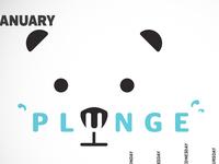 Self promo calendar project - Polar Bear Plunge