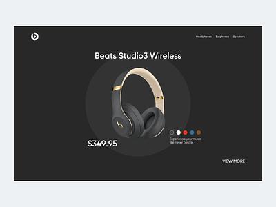 Beats concept ecommerce earphone earphones headphones headphone website design web design webdesign website web black minimal design beats by dre beats minimal ui design ui  ux uiux uidesign ui