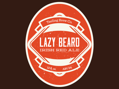 Lazy Beard Irish Red v1 beer label moonshiner homebrew deming sentinel