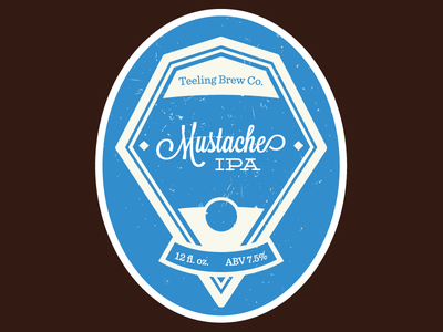 Mustache IPA v1 beer label lavendaria deming sentinel homebrew