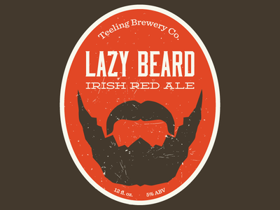 Lazy Beard Irish Red v2 beer label moonshiner homebrew deming sentinel