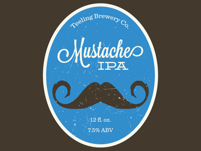 Mustache IPA v2 beer label lavendaria deming sentinel homebrew