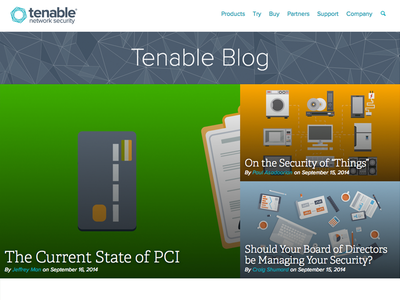 Tenable Blog Redesign security blog network tenable network security
