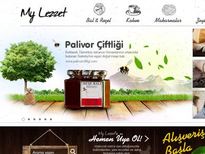 MyLezzet navigation health web style natural slider interface creative direction uiux web design ui food