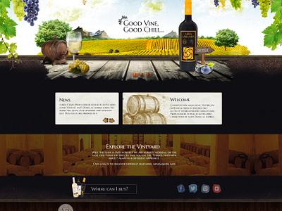 Wine Web site wine shop logo ui responsive creative direction uiux web design nature web print