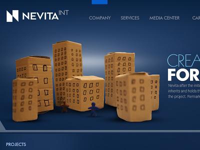Nevita creative direction uiux web design