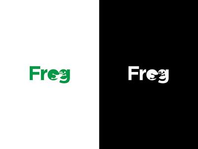 Frog Logo Negative Space
