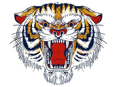 TigRRRe a crab step studio wild tigre tatoo illustration