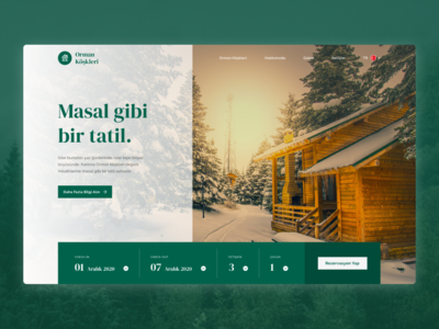 Forest Lodges Web Landing Page