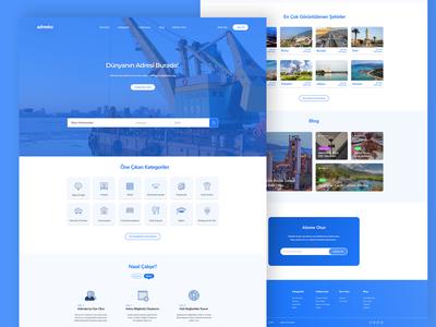 Adresko | Industrial Address Finding Website Landing Page
