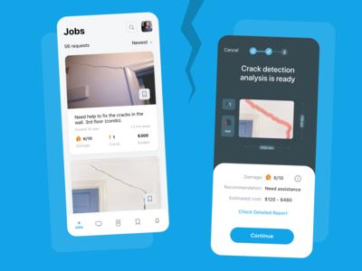Wall cracks detection app