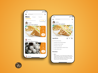 Recipes App Design