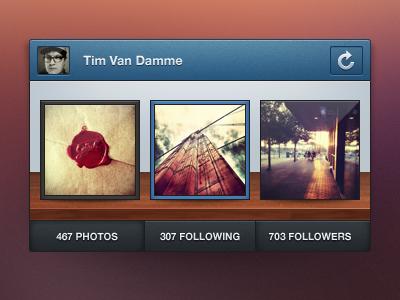 Instagram Mini Profile – PSD instagram mini profile psd freebie wood 16:16 manu