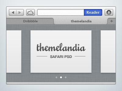 Safari PSD 21:30 ui safari mac mini browser mountain lion manu