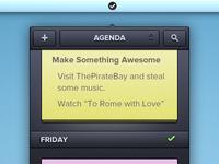 Menubar Agenda App