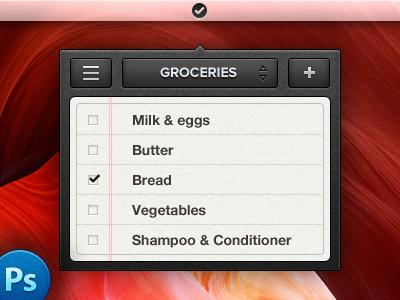 Mini Reminders – PSD mini reminders psd freebie ui mac app 13:30 2089 manu