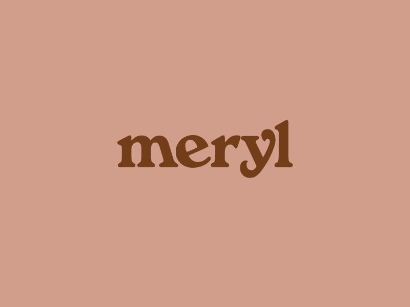meryl logotype logo branding
