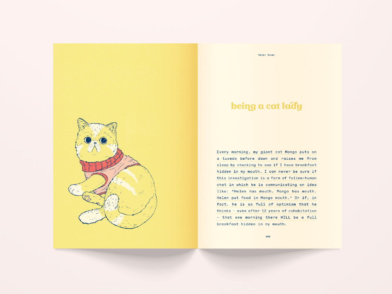 Something to Say book design layout art direction book design