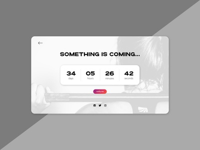 Daily UI 14 - Countdown timer blackandwhite gradient uxui ui design ux design fitness gym digital product interface design onepage website webdesign timer countdown daily ui 14 dailyuichallenge dailyui