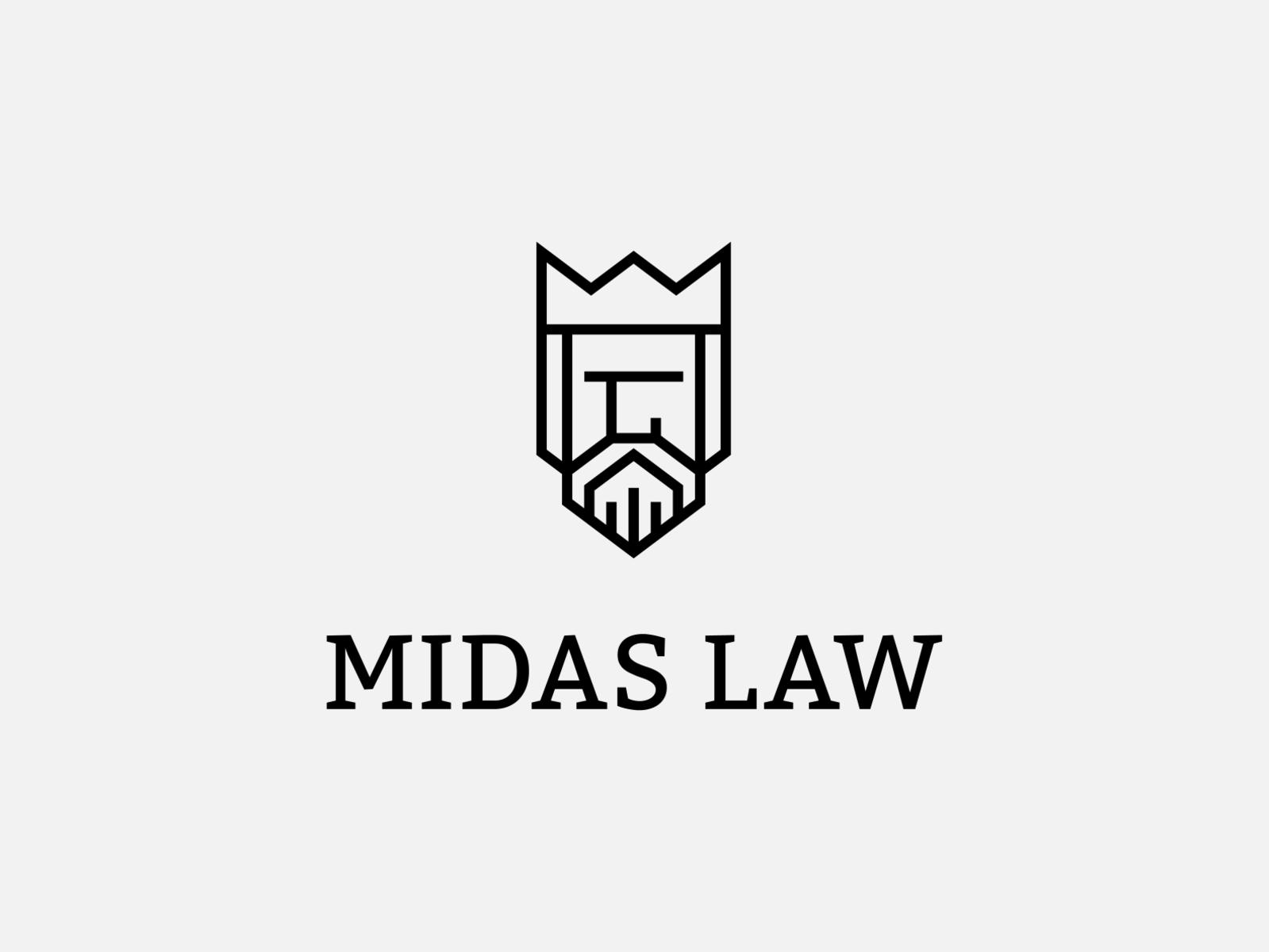 Midas Law logo design