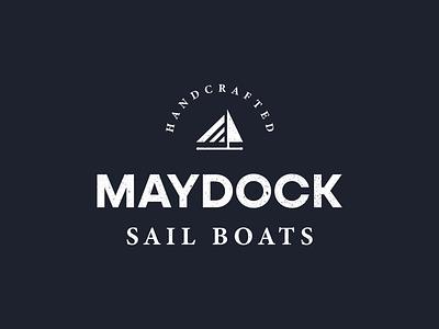 Maydock Sail Boats vector photoshop logo joshuacreatives illustrator icon graphic design flat debut design branding brand