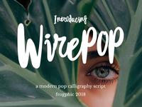 Wirepop - Free script font