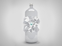 geometric glass bottle