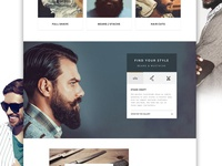 The Shave: Website Design