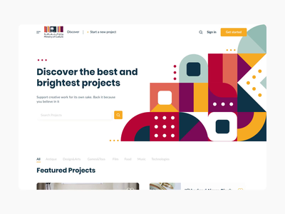 Crowdfunding Landing Page vector app design graphic mobile graphic design main homepage patterns animation motion interface landing page dashboard web design ux ui