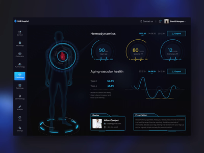 Patient health interface interface hud clean corona desktop animation motion app medicine covid19 hospital crm patient health medical dashboard design web ux ui