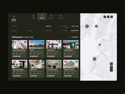 Real Estate: Searching booking motion web details search map design animation motion design desktop design real estate interactive interfaces website design interface ux ui