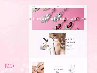 Jewelry Ecommerce Site fashion modern jewelry inspiration tablet mobile responsive buy shop ecommerce animation landing page home dashboard design motion interface web ux ui
