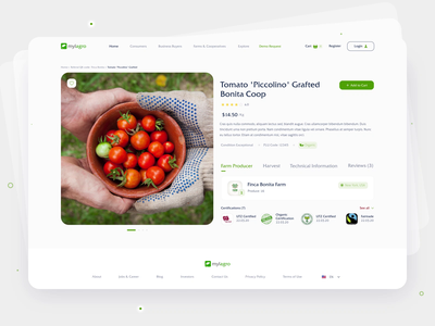 Order Vegetables Interface ux design checkout website green ecommerce design clean web farm design interface desktop detail buy shop product animation motion ui ux