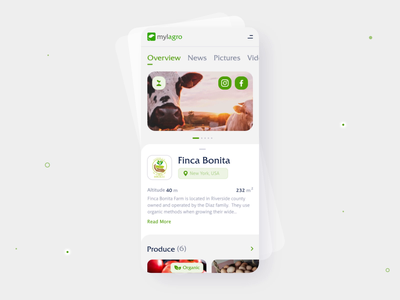 Single Farm App for Mylagro details agronomy buy mobile eccomerce shop farm interface app design desktop motion animation website design clean design ux ui