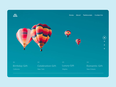 Birthday Gift Website motion balloon e-commerce website home landing design interface web ux ui