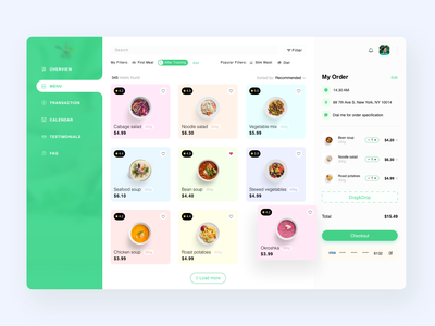 Food DeliveryPlatform payment order delivery food desktop dashboard web design ux ui