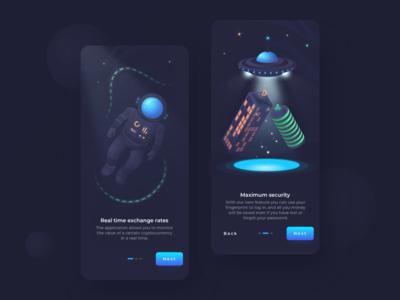 Crypto Wallet App: Onboarding Screens