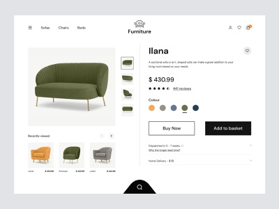 Ecommerce Product Details ecommerce website shopping app online shop cart page web mobile halal lab furniture store furniture app web design online store product page shop ecommerce interface website