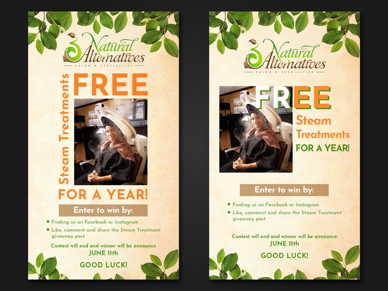 Poster design for Natural Alternatives Salon green graphic design photoshop advertising banner design banner postcard print discount card free psd freebie discount summer party summer flyer rollup rollup banner flyer design summer poster poster design