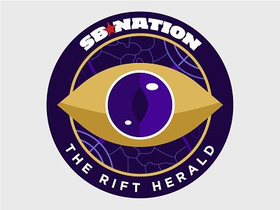 The Rift Herald Logo illustration gaming purple league of legends lol map eye logo branding