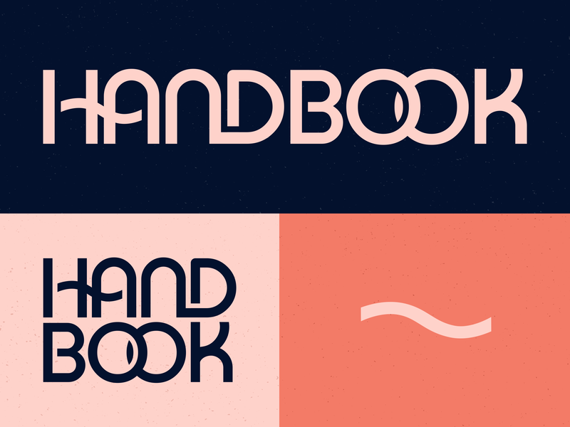 Curbed Handbook logo and color exploration editorial vox media subbrand ligature retro wordmark branding brand identity type typography logo