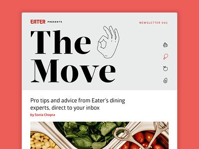 Eater newsletter typography iconography branding icons line art illustration vox media ok sign ok hand editorial food newsletter