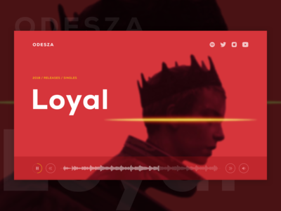 🎹Music Group UI Concept - ODESZA