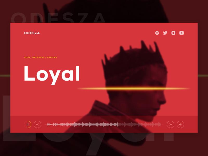 🎹Music Group UI Concept - ODESZA application music artist clean song layout artist web design media minimal music redesign odesza typography branding interface uiuxdesign ui splitdevelopment splitdev