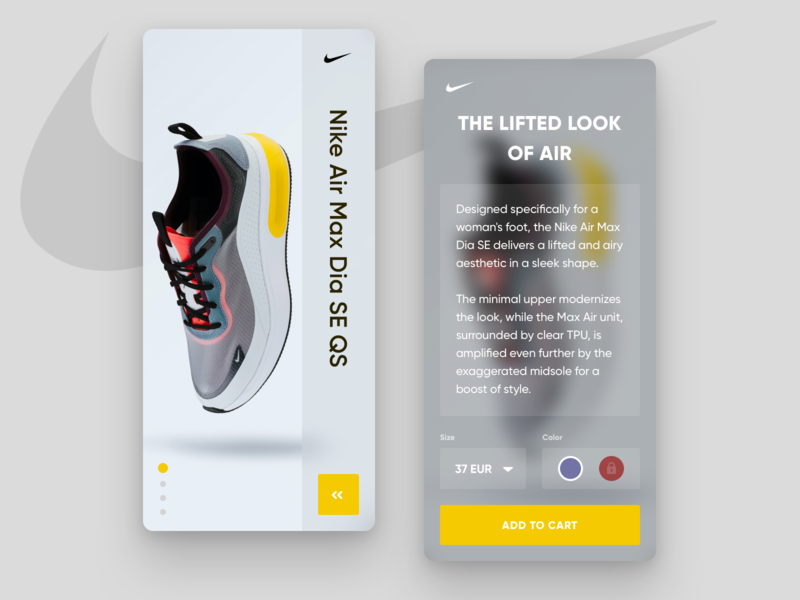 👟Nike Sneakers UI App Concept mobile app uxdesign app nike app minimal app design minimal app ecommerce app ui design sneakers ios uiuxdesign ios app design shoe design ecommerce design nike sneakers nike app design ui splitdevelopment splitdev