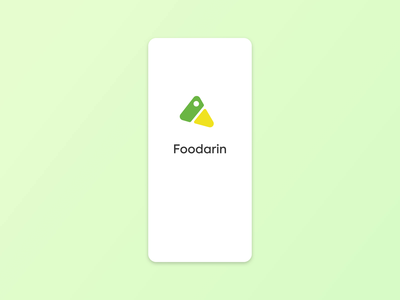 Foodarin - Animated Onboarding Screens