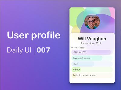 Daily UI 006 - User Profile 006 user profile daily ui