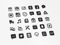 Social Media and Contact Icons
