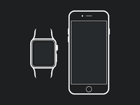 Apple Watch iPhone 6 Mockup Template