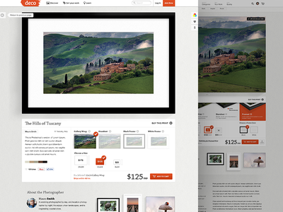 Deco Detail photography website wall frame ux ui art